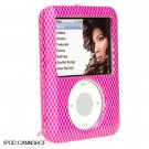 HOT PINK Carbon Fiber Crystal Shield Protector Case for Apple iPod Nano 3