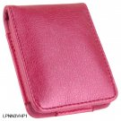 HOT PINK Flip Cover Leather Pouch for Apple iPod Nano 3