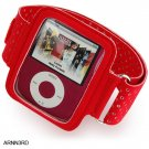RED Full View Sports Armband for Apple iPod Nano 3