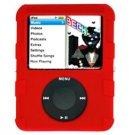 RED Silicone Skin Cover w/ Anti-Slip Grip for Apple iPod Nano 3rd Gen