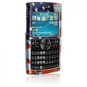 Crystal Shield Protector Case for Samsung BlackJack II (SGH-i617) - American Flag