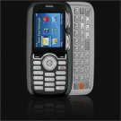 Crystal Leather Shield Protector Case for LG Rumor LX260 - Black