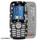Crystal Shield Protector Case for LG Rumor LX260 - Black Stars