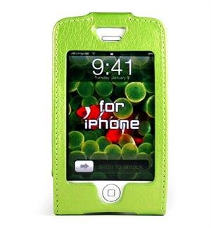 GREEN Apple iPhone Forza Leather Case
