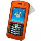 Blackberry 8100 Pearl Hard Plastic Proguard w/ Detachable Swivel Clip - Orange