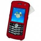 Blackberry 8100 Pearl Hard Plastic Proguard w/ Detachable Swivel Clip - Red