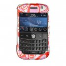 Hard Plastic Shield Protector Faceplate Case for BlackBerry Bold 9000 - Red Hearts
