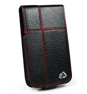 BLACK Apple iPhone Redline Leather Case