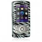 Hard Plastic Shield Protector Case for LG Decoy VX8610 Cell Phone - Zebra