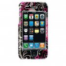 Hard Plastic Shield Protector Faceplate Case for Apple iPhone 3G - Pink Butterfly