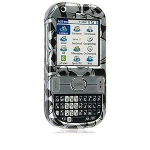 Crystal Shield Protector Case for Palm Centro - Black Skulls