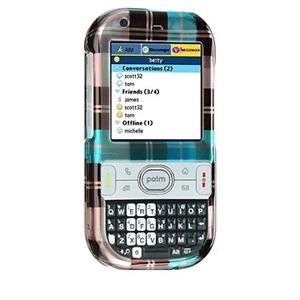 Crystal Shield Protector Case for Palm Centro - Blue Check