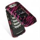 Hard Plastic Design Cover Case for BlackBerry Pearl Flip 8220 - Black Zebra