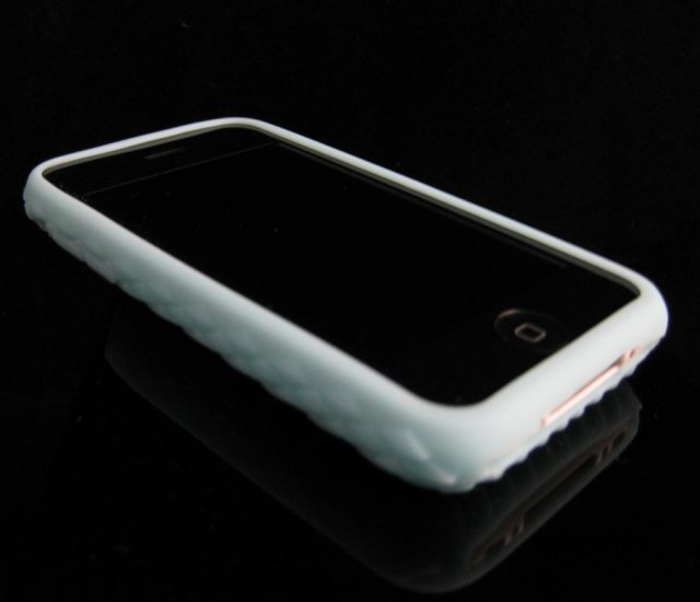 Baby Blue Premium High-Grade Textured Soft Rubber Silicone Skin Cover Case for Apple iPhone 3G