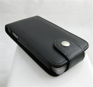 Vertical Leatherette Cover Case Pouch for Samsung Instinct M800 - Black