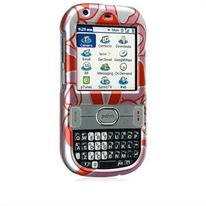 Crystal Shield Protector Case for Palm Centro - Red Hearts