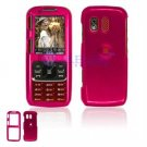 Hard Plastic Shield Cover Case for Samsung Rant M540 - Rose Pink