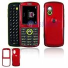 Hard Plastic Shield Cover Case for Samsung Gravity T459 - Red