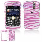 Hard Plastic Design Cover Case for BlackBerry Curve 8350i (Sprint/Nextel) - Pink / White Zebra