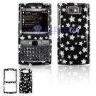 Hard Plastic Design Cover Case for Samsung Epix i907 - Black Silver Stars