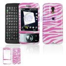 Hard Plastic Design Cover Case for HTC Touch Pro (SPRINT) - Pink / White Zebra