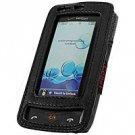 Black Full View Leather Case for LG Versa (Verizon Wireless)