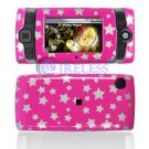 Hard Plastic Design Shield Protector Cover Case for Sidekick 2008 - Pink / Silver Stars