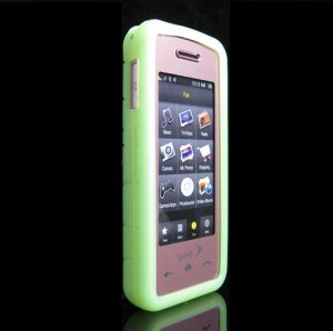 GeoDesign Soft Rubber Silicone Cover Case for Samsung Instinct M800 - Green