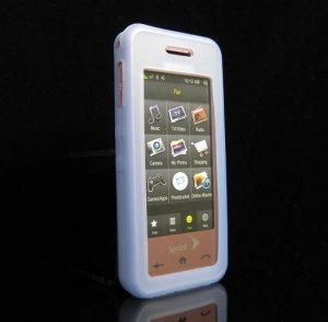 Slim Jelly Soft Silicone Skin for Samsung Instinct M800 - BLUE
