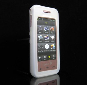 Slim Jelly Soft Silicone Skin for Samsung Instinct M800 - Clear