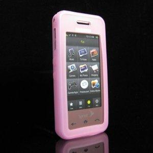 Slim Jelly Soft Silicone Skin for Samsung Instinct M800 - Pink