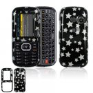 Hard Plastic Design Cover Case for LG Rumor 2 LX265 - Black / Silver Stars