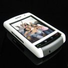 PREMIUM Hard Plastic Shield Cover Case for BlackBerry Storm 9500/9530 - White / Gray