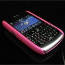 Back Cover Rubber Coating Hard Faceplate for BlackBerry Curve 8900 - Hot Pink