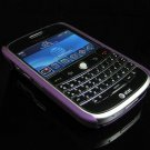 Back Cover Rubber Coating Hard Faceplate for BlackBerry Bold 9000 - Purple
