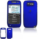 Hard Plastic Rubber Feel Cover Case for Nokia E71 - Blue