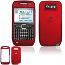 Hard Plastic Rubber Feel Cover Case for Nokia E71 - Red