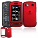 Hard Plastic Rubber Feel Cover Case for LG Xenon GR500 (AT&T) - Red