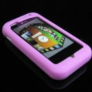 Soft Rubber Silicone Skin Cover Case for LG Arena KM900 - Pink