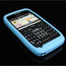 Soft Rubber Silicone Skin Cover Case for Nokia E71 - Sky Blue