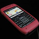 Premium Grip Soft Rubber Silicone Skin Cover Case for Nokia E71 - Burgundy