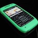 Premium Grip Soft Rubber Silicone Skin Cover Case for Nokia E71 - Green