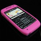Premium Grip Soft Rubber Silicone Skin Cover Case for Nokia E71 - Hot Pink