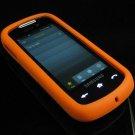 Soft Rubber Silicone Skin Cover Case for Samsung Instinct S30 - Orange