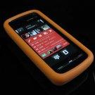 Soft Rubber Silicone Skin Cover Case for Nokia 5800 XpressMusic - Orange