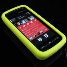 Soft Rubber Silicone Skin Cover Case for Nokia 5800 XpressMusic - Yellow