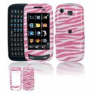 Hard Plastic Design Cover Case for Samsung Impression A877 (AT&T) - Pink / White Zebra