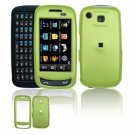 Hard Plastic Rubber Feel Cover Case for Samsung Impression A877 (AT&T) - Green
