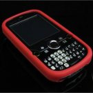 Full View Soft Silicone Skin Case for Palm Treo Pro 850 - Red