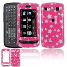 Hard Plastic Design Cover Case for LG Xenon GR500 (AT&T) - Pink Stars